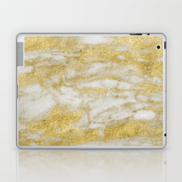 Bassiano golden marble Laptop & iPad Skin