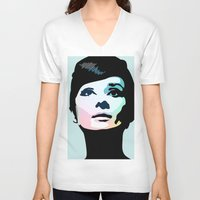 posters V-neck T-shirts featuring Audrey Hepburn Posters by Creativehelper