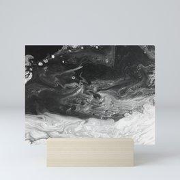 Heaven vs Hell Black & White Mini Art Print