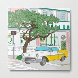 Miami Ocean Drive Metal Print