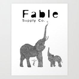 Fractal Elephant Art Print