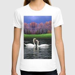 Swimming Swans  T-shirt