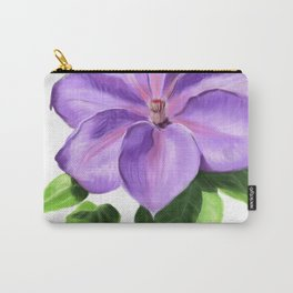 The Purple Clematis Carry-All Pouch