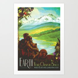 Earth: Your Oasis in Space (Courtesy NASA/JPL-Caltech) Art Print