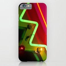 Neon sign closeup iPhone 6s Slim Case