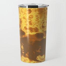 Golden Flow Abstract Fluid Art Texture Travel Mug