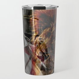 Templar Knight and Lion Travel Mug