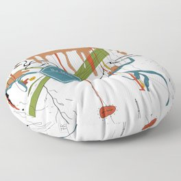Naked Lunch Floor Pillow