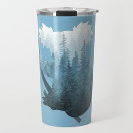 Misty Forest Koala Bear - Blue Travel Mug