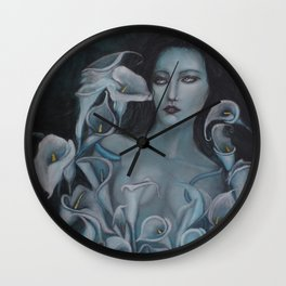 Blue Calla Wall Clock