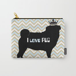 I love pug-Blue Carry-All Pouch