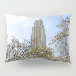 Pittsburgh Cathedral of Learning in the winter 25 Pillow Sham
