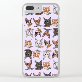 Fab 5; Toe Beans Cats Clear iPhone Case