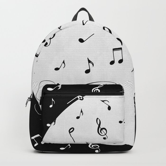 Music Black and White Backpack