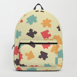 Pieces of puzzle pattern Backpack