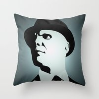 fringe Throw Pillows featuring OBEY (Fringe) by Matheus Lopes