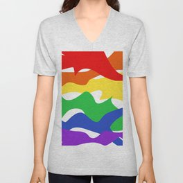 Pride Abstract Unisex V-Neck