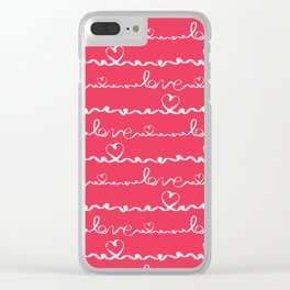Love me tight Valentines Clear iPhone Case