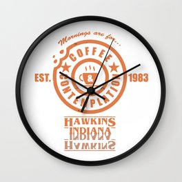 Coffee & Contemplation Wall Clock