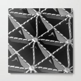 Grate Pattern Metal Print