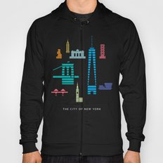 New York Skyline WTC Poster Color Hoody