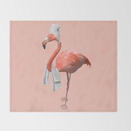 Squeaky Clean Flamingo Throw Blanket
