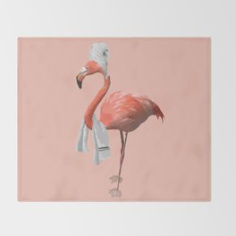 Squeaky Clean Flamingo Throw Blanket