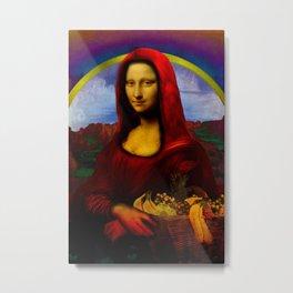 Red Riding Hood (aka Mona Lisa) Metal Print