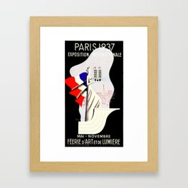 Paris Expo 1937 Art and Light Framed Art Print