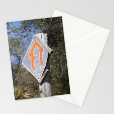 Florida Trail in Winter (unrecognizable weather in Florida) Stationery Cards