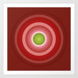 Beetroot Pink Circles Art Print
