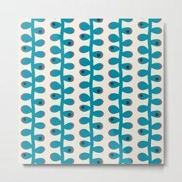 Like a Leaf [blue spots] Metal Print