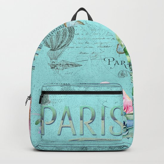 Paris - my blue love Backpack