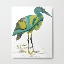 Stork Metal Print