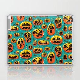 Jack o Lanterns Jackolantern jack o lantern pumpkin pattern spooky creepy fun Laptop & iPad Skin