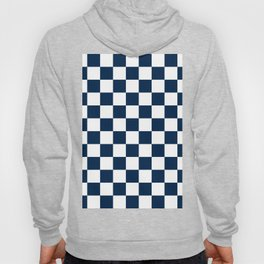 Checkered - White and Oxford Blue Hoody