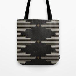 Southwestern Minimalist Black & White Tote Bag