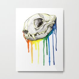 Skull Candy Kitty Metal Print