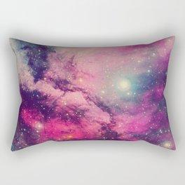Purple Twilight Galaxy Rectangular Pillow