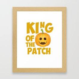 King of the Patch Pumpkin Halloween Graphic T-Shirt Framed Art Print