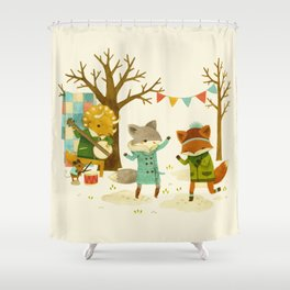 Critters: Spring Dancing Shower Curtain