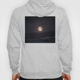 Full Moon over the Ocean Hoody
