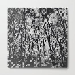 Pixelated Trees Metal Print