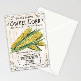 Organic Seeds 4 Stationery Cards