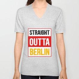 Straight Outta Berlin Capital Unisex V-Neck