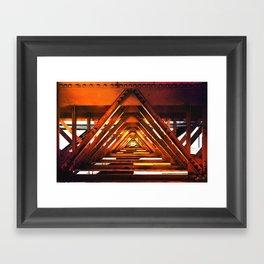 Under The Line Framed Art Print