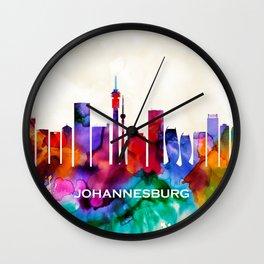 Johannesburg Skyline Wall Clock