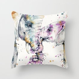 That Type Of Love (Elephants) Throw Pillow