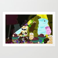 cookie monster Art Prints featuring Cookie Monster by Vito Giorgio