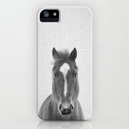 Horse II - Black & White iPhone Case